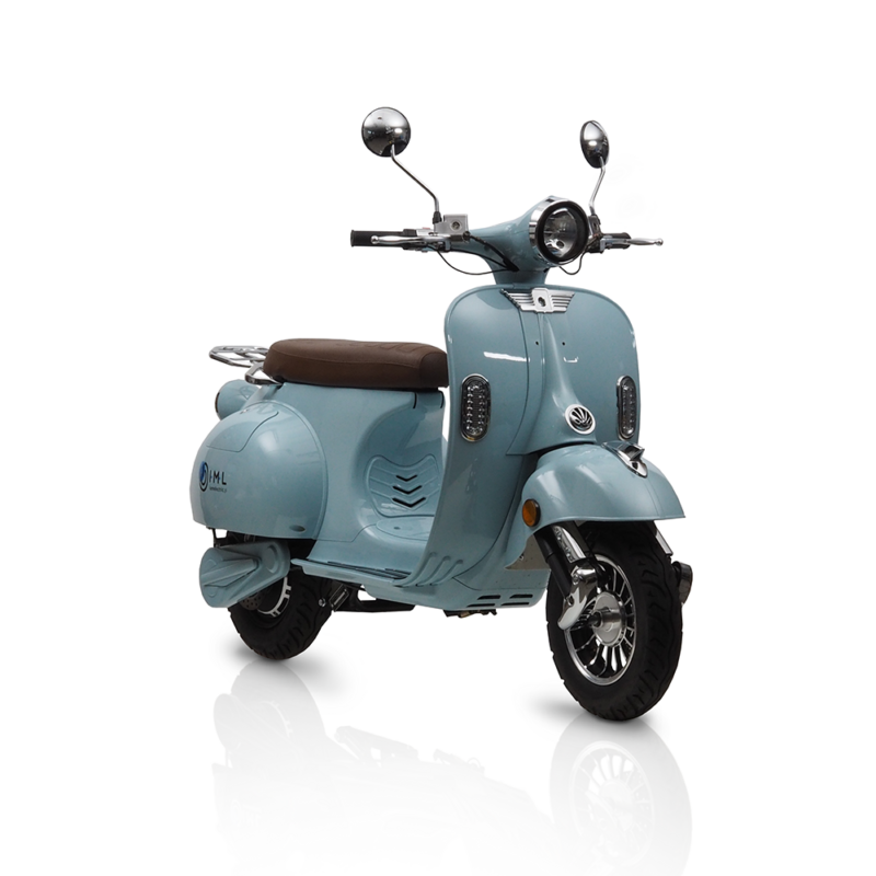 electric scooter blue iamelectric retro scooters vespa 50cc