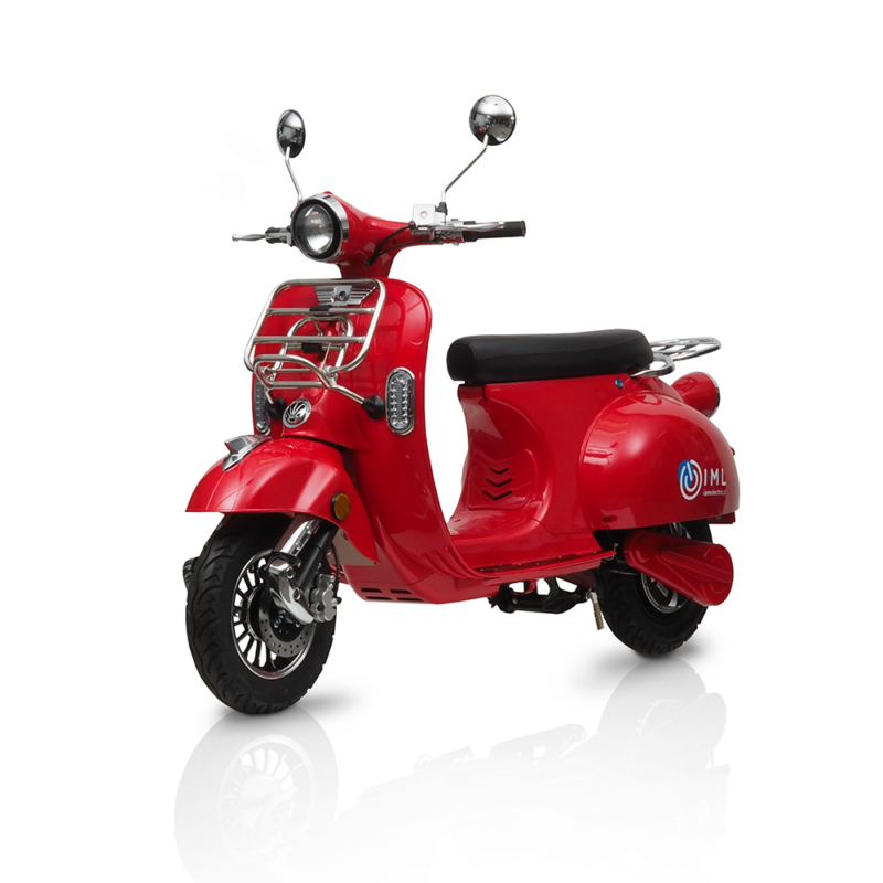 electric scooter havana retro 50cc iamelectric red